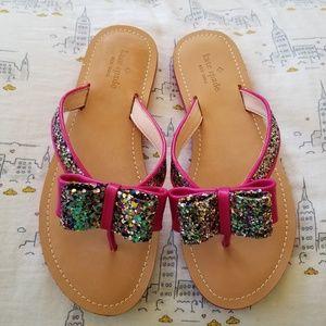 Kate Spade New York's Icarda glitter bow sandals